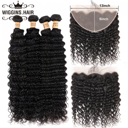 Deep Wave Hair with 13*6 Lace Frontal