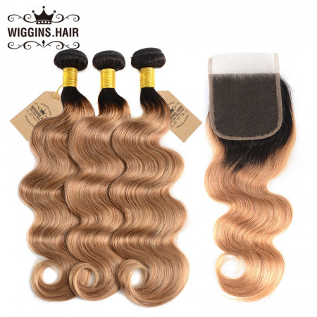 3pcs Body Weave Wave With 4x4 Lace Closure