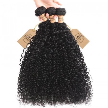 3 Bundles Human Virgin Hair Peruvian Curly Weave Bundles Deals