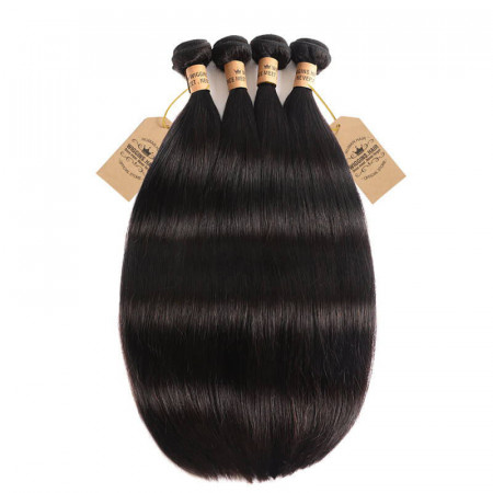 4 Bundles Straight Human Virgin Hair 8A Grade Cheap Hair