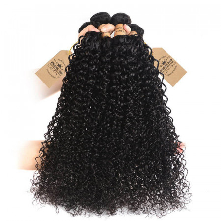 Cheap Virgin Malaysian Curly Hair Bundles 4pcs Jerry Curly Hair Weave