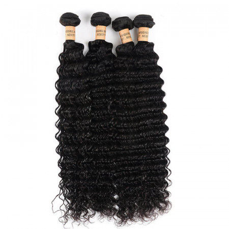 4Pcs/pack Deep Wave Brazilian Hair Real Brazilian Human Hair Bundles