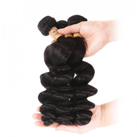 Peruvian Loose Wave Virgin Hair Weft 3pcs/pack 8A High Quality