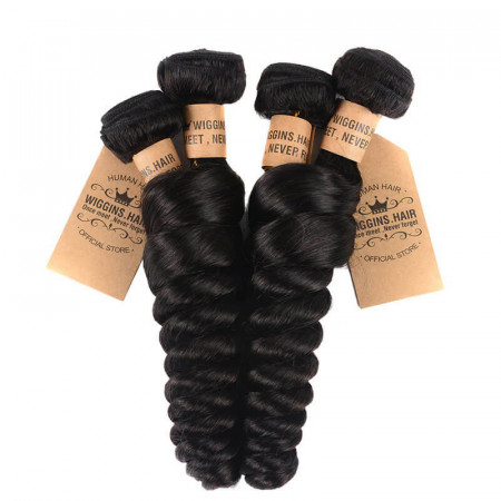 4PCS Malaysian Hair Weave Loose Wave Bundles Virgin Hair