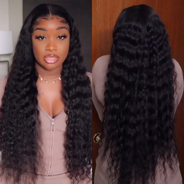Loose Deep Wave 16 36 Inch Long Hair Wigs Lace Front Wigs For Chocolate Women Wigginshair