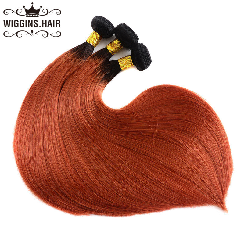 1b 350 Color Ombre Hair Straight Bundles Human Virgin Hair Weave