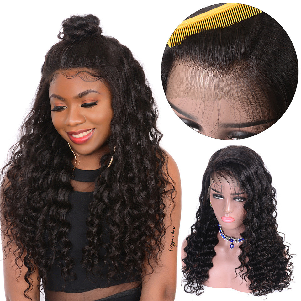 Loose Deep Wave Full Lace Wig 8a Grade 180 Density Lace