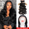 Cheap Human Hair Body Wave 3 Bundles With 13*6 Ear To Ear Lace Frontal