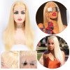 150% 180% 200% 250% Density Pure 613 Blonde Straight Lace Front Wigs