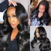 150% 180% 200% Density Body Wave 13*4 Lace Front Wigs Pre-Plucked Hair