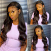 Natural Looking Wigs 150% 180% 200% Density Body Wave 13*4 Lace Front Wigs Pre-Plucked Hair