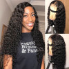 Deep Wave 150% 180% 200% Density Lace Front Wig With Baby Hair