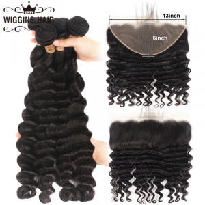 Loose Deep Wave Hair With 13*6 Lace Frontal