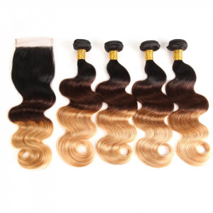 Body Wave 4pcs With 4*4 Lace Closure