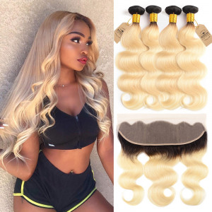 4 Bundles With Lace Frontal