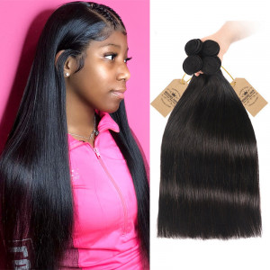 Human Hair Straight Bundles
