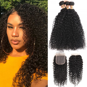 3pcs Brazilian Jerry Curly Hair