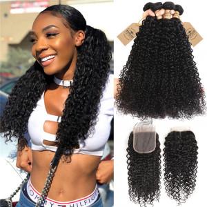 4pcs Curly Wave Human Hair
