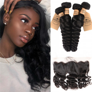 Loose Wave 4pcs With Lace Frontal