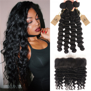 Loose Deep Wave With 13*4 Lace Frontal