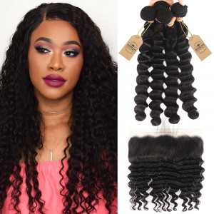 Loose Deep Wave Virgin Hair Bundles 4pcs