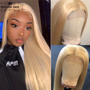 613 Honey Blonde Lace Closure Wig
