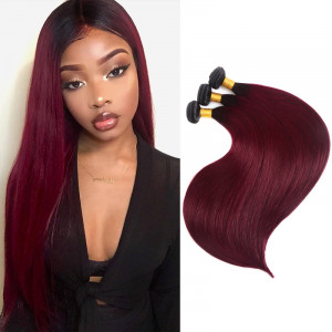 1B/99J Color Straight Hair