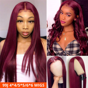 99J Lace Closure Wigs