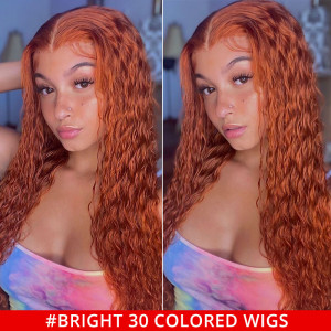 Bright 30 Colored Lace Front Wigs