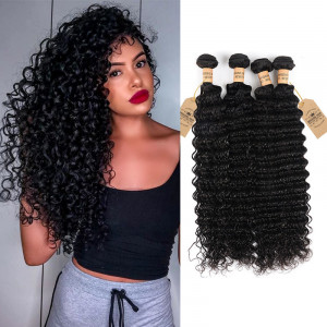 Deep Wave Virgin Hair 4 Bundles
