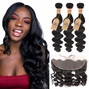 Loose Wave With Lace Frontal