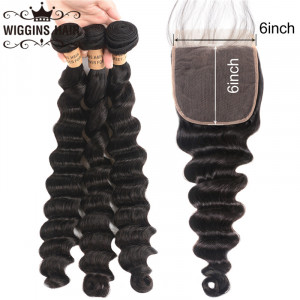 loose deep 6*6 lace closure