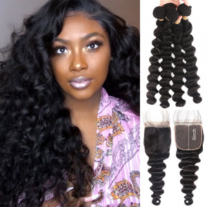Bundles with 6*6 Lace Closure