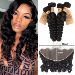 Loose Wave Hair With 13*6 Lace Frontal