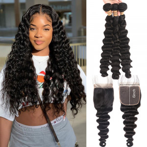 loose deep human hair bundles