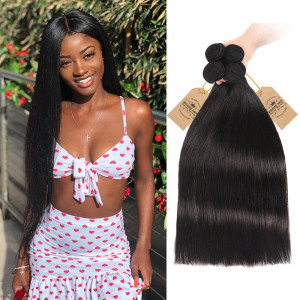 Human Hair Straight Bundles