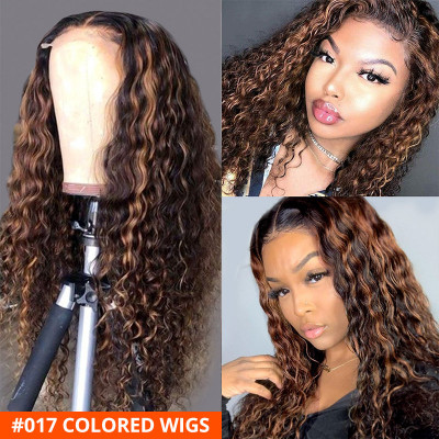 Colored Wigs Highlight Human Hair Lace Front Wigs Ombre Wigs For Women