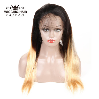 1B/4/27 Straight 360 Frontal Straight Pre-Plucked Hairline Virgin Hair