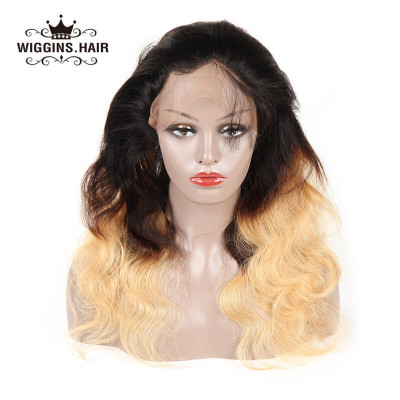 Ombre Color 1B/4/27 Body 360 Frontal Brazilian Body Wave Virgin Hair