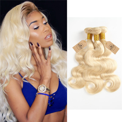 High Grade Virgin Hair Pure 613 Blonde Brazilian Body Wave 3 Bundles