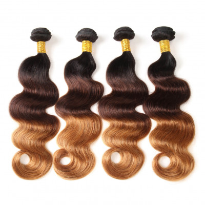 1B/4/30 Color Body Wave Weave Ombre Hair 4pcs Bundles
