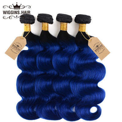 1B/Blue Color Ombre Hair Body Wave Weave 8A High Quality