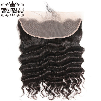 Peruvian Human Virgin Hair Loose Deep Wave 13*4 Lace Frontal