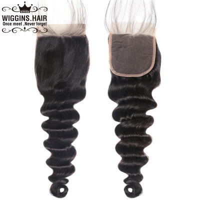 100% Brazilian Human Virgin Hair Loose Deep 4*4 Lace Closure Sale