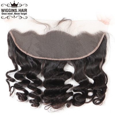 Human Virgin Hair Loose Wave Closure 13x4 Lace Frontal Full Lace
