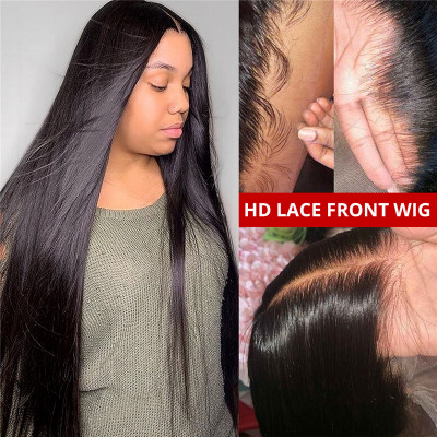 HD Lace Wigs 13*4 Lace Front Wig Straight Skin Melt HD Lace Wigs Human Hair Wigs
