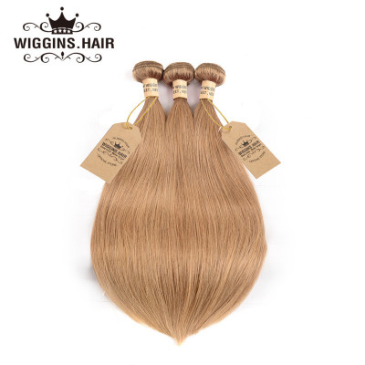 Brazilian Human Virgin Hair Honey Blonde Color #27 3pcs Straight Hair