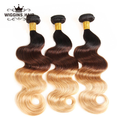 Brazilian Virgin Hair 1B/4/27 Color Body Wave Hair 3 Bundles
