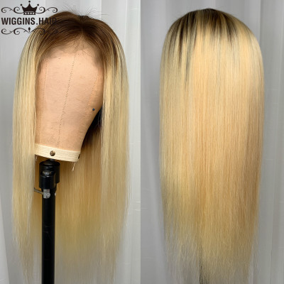 Lace Front Wigs 180% Density 1B/613 Color Wigs Brazilian Straight Hair On Sale