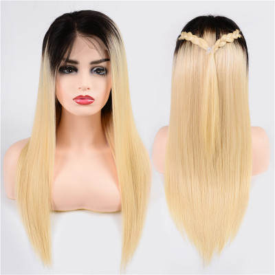 1B/613 Color Full Lace Wigs 150% Density Straight Virgin Hair Full Lace Wig